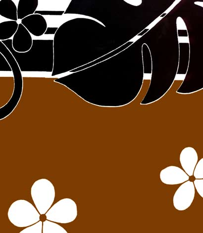 Brown Philodendron fabric